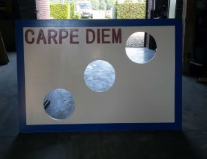 Doelschieten hout is te huur bij Carpe Diem Events & Verhuur uit Limburg.
