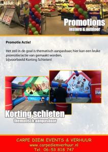 Korting Schieten Promo, Carpe Diem Events & Verhuur, Huren, Te Huur, Limburg, Springkussen, Stormbaan