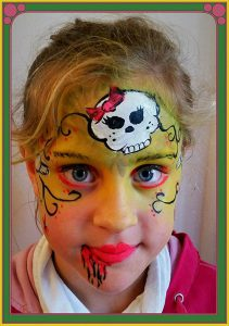 Workshop Kids Halloween Schminken is te reserveren bij Carpe Diem Festum. Onderdeel van Carpe Diem Events en Verhuur