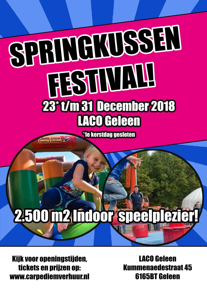 Springkussen Festival in Laco Geleen door Carpe Diem Events & Verhuur